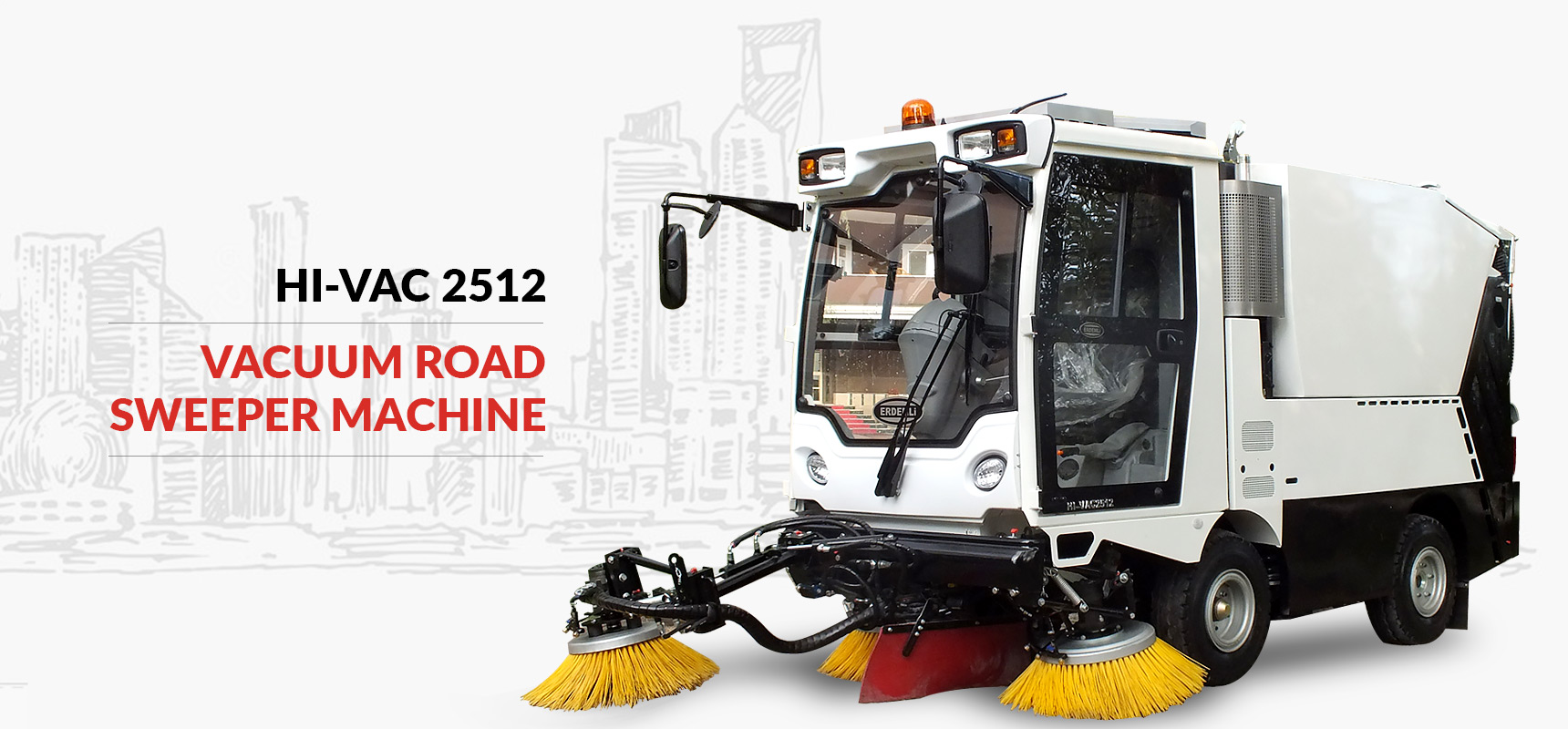 Erdemli Hydraulic Vacuum Road Sweeper Machine